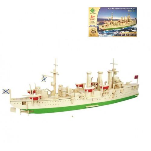 Покупка  3D Деревянный конструктор. Модель корабль Крейсер Аврора в  Интернет-магазин Zelenaya Vorona™