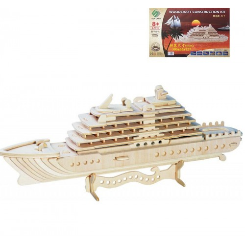 Покупка  3D Деревянный конструктор. Модель корабль Круизный лайнер в  Интернет-магазин Zelenaya Vorona™