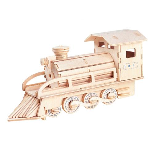 Покупка  3D Деревянный конструктор. Модель Паровоз в  Интернет-магазин Zelenaya Vorona™