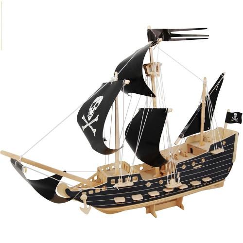 Покупка  3D Деревянный конструктор. Модель Пиратский корабль в  Интернет-магазин Zelenaya Vorona™
