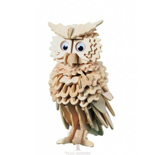 Покупка  3D Деревянный конструктор. Модель Совенок в  Интернет-магазин Zelenaya Vorona™