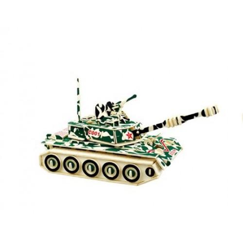 3D Деревянный конструктор. Модель Военный Танк ZTZ-99  в  Интернет-магазин Zelenaya Vorona™ 1