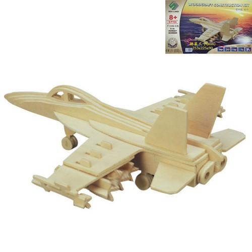 Покупка  3D Деревянный конструктор. Модель истребитель-бомбардировщик Hornet F-18 в  Интернет-магазин Zelenaya Vorona™