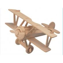 3D Деревянный конструктор. Модель Истребитель-биплан Ньюпор 17