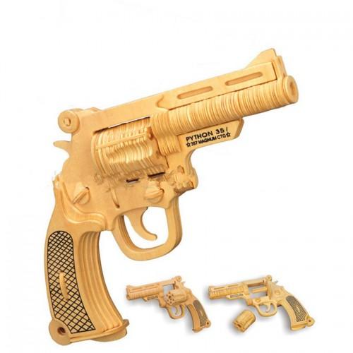 Покупка  3D Деревянный конструктор. Модель Пистолет в  Интернет-магазин Zelenaya Vorona™