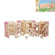 3D Деревянный конструктор. Мебель для принцессы