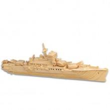 3D Деревянный конструктор. Модель Корабль Крейсер