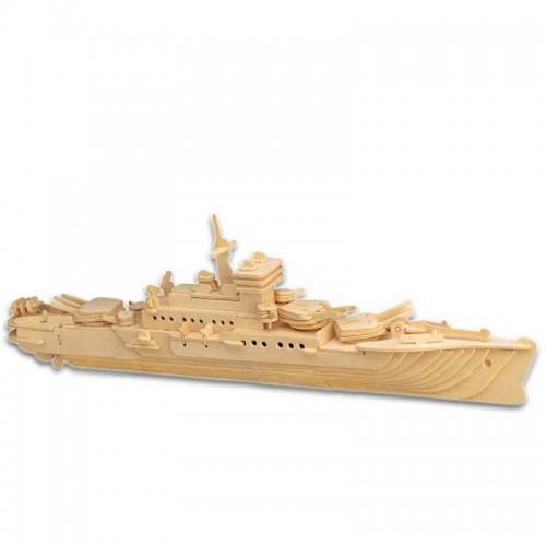 Покупка  3D Деревянный конструктор. Модель Корабль Крейсер в  Интернет-магазин Zelenaya Vorona™