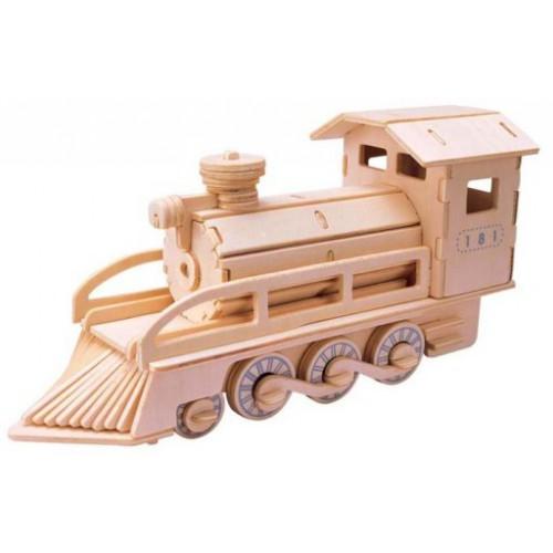 3D Деревянный конструктор. Модель Паровоз  в  Интернет-магазин Zelenaya Vorona™ 1
