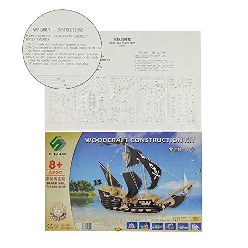3D Деревянный конструктор. Модель Пиратский корабль  в  Интернет-магазин Zelenaya Vorona™ 2