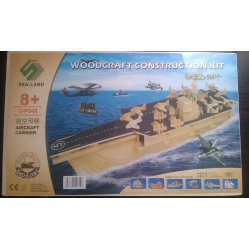 3D Деревянный конструктор. Модель корабль Авианосец  в  Интернет-магазин Zelenaya Vorona™ 1