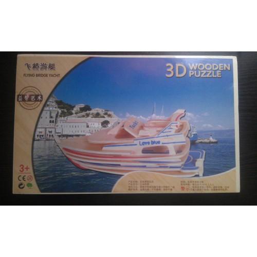 3D Деревянный конструктор. Модель Яхта  в  Интернет-магазин Zelenaya Vorona™ 1