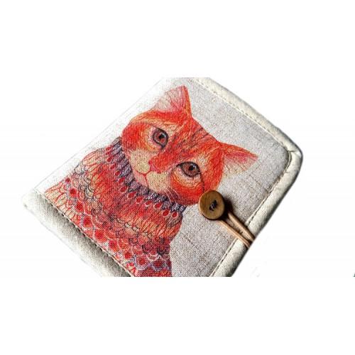 Женский текстильный кошелек Котофей  в  Интернет-магазин Zelenaya Vorona™ 1