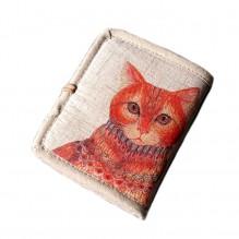 Женский текстильный кошелек Котофей