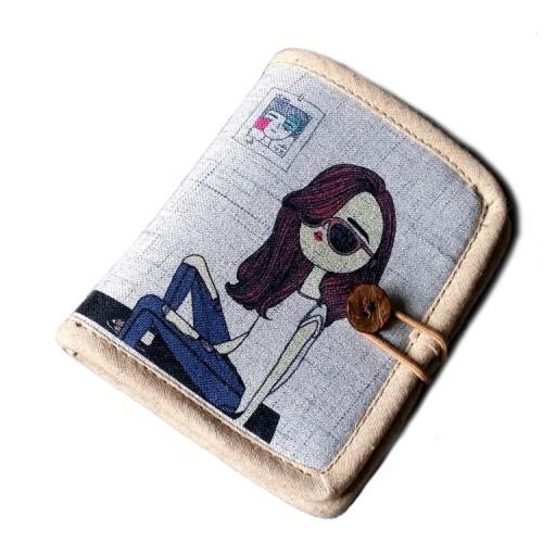 Покупка  Женский текстильный кошелек Джинсовое настроение в  Интернет-магазин Zelenaya Vorona™