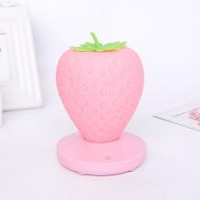Силиконовый LED светильник-ночник Клубника. Розовый