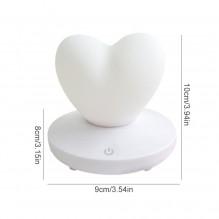 Силиконовый LED светильник-ночник Сердце. Белый