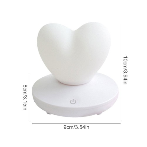 Силиконовый LED светильник-ночник Сердце. Светло-фиолетовый  в  Интернет-магазин Zelenaya Vorona™ 5