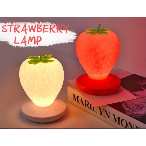 Силиконовый LED светильник-ночник Клубника. Красный  в  Интернет-магазин Zelenaya Vorona™ 6