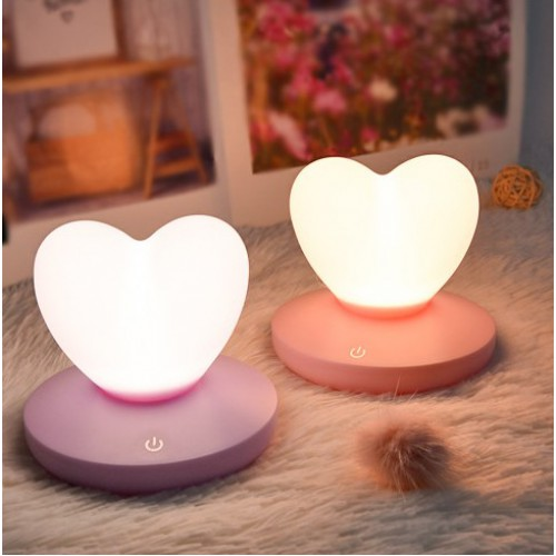 Силиконовый LED светильник-ночник Сердце. Светло-фиолетовый  в  Интернет-магазин Zelenaya Vorona™ 1