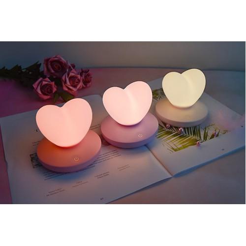 Силиконовый LED светильник-ночник Сердце. Светло-фиолетовый  в  Интернет-магазин Zelenaya Vorona™ 3