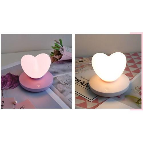 Силиконовый LED светильник-ночник Сердце. Светло-фиолетовый  в  Интернет-магазин Zelenaya Vorona™ 4
