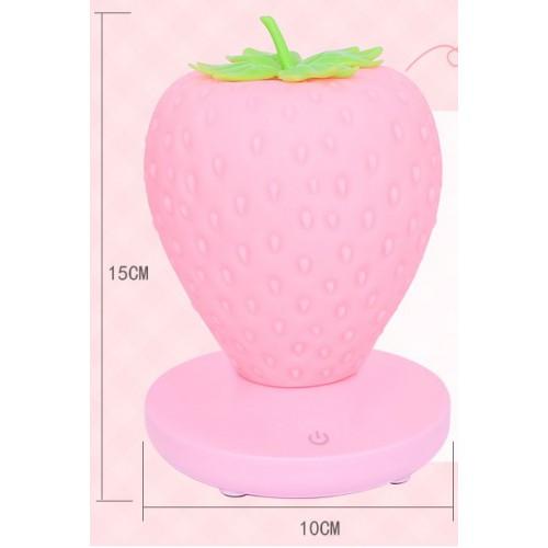 Силиконовый LED светильник-ночник Клубника. Розовый  в  Интернет-магазин Zelenaya Vorona™ 5
