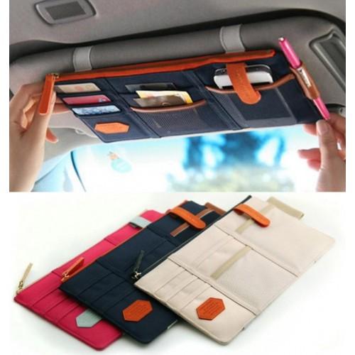 Покупка  Автомобильный органайзер Sun visor pouch. Синий в  Интернет-магазин Zelenaya Vorona™