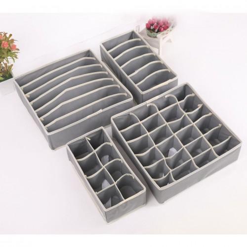 Набор органайзеров для белья 4 шт. Серый  в  Интернет-магазин Zelenaya Vorona™ 1