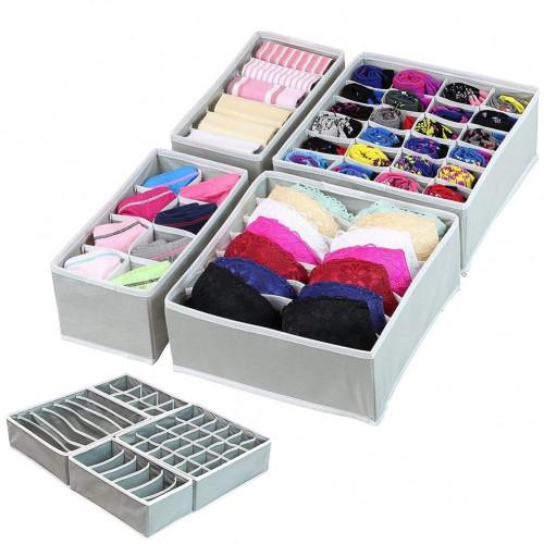 Покупка  Набор органайзеров для белья 4 шт. Серый в  Интернет-магазин Zelenaya Vorona™