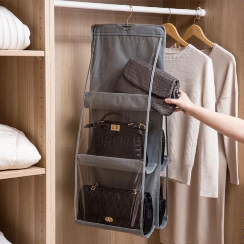 Подвесной органайзер для хранения сумок. Серый  в  Интернет-магазин Zelenaya Vorona™ 1