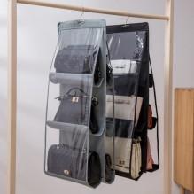Подвесной органайзер для хранения сумок. Серый