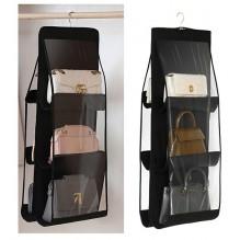 Подвесной органайзер для хранения сумок. Черный
