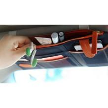 Автомобильный органайзер Sun visor pouch. Синий