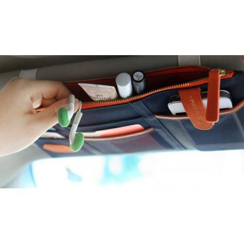 Автомобильный органайзер Sun visor pouch. Синий  в  Интернет-магазин Zelenaya Vorona™ 2