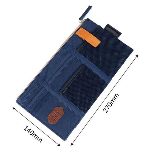 Автомобильный органайзер Sun visor pouch. Синий  в  Интернет-магазин Zelenaya Vorona™ 6