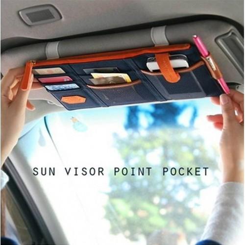 Автомобильный органайзер Sun visor pouch. Синий  в  Интернет-магазин Zelenaya Vorona™ 1
