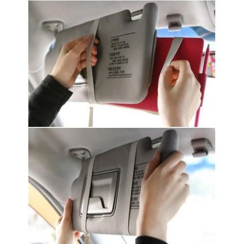 Автомобильный органайзер Sun visor pouch. Синий  в  Интернет-магазин Zelenaya Vorona™ 4
