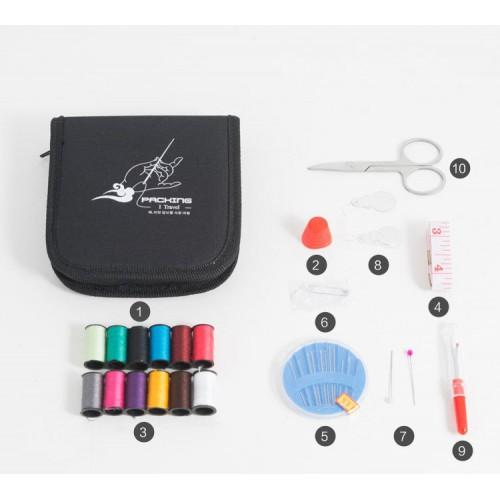 Дорожный набор для шитья Packing I Travel. Фиолетовый  в  Интернет-магазин Zelenaya Vorona™ 5