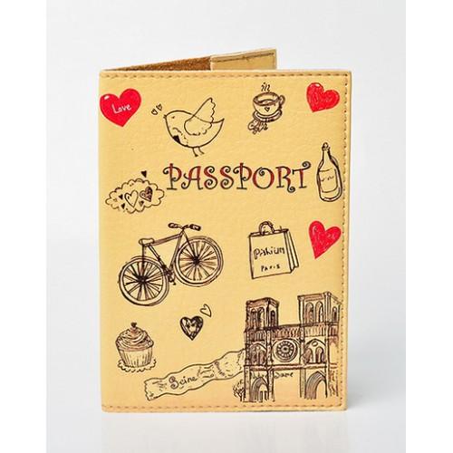 Покупка  Обложка для паспорта Lovely. Бежевый в  Интернет-магазин Zelenaya Vorona™