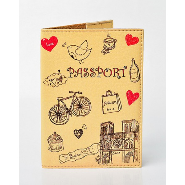Обложка для паспорта Lovely. Бежевый