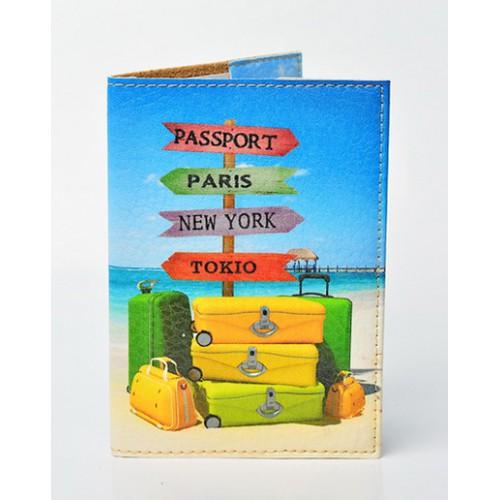 Покупка  Обложка для паспорта I love travel в  Интернет-магазин Zelenaya Vorona™