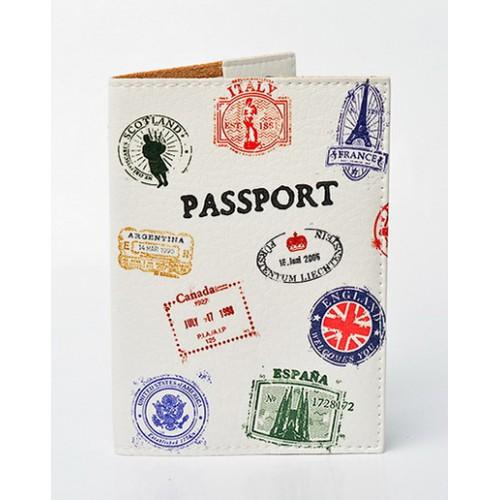 Покупка  Обложка для паспорта Travel штампы в  Интернет-магазин Zelenaya Vorona™
