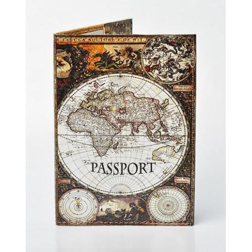 Покупка  Обложка для паспорта Материки в  Интернет-магазин Zelenaya Vorona™