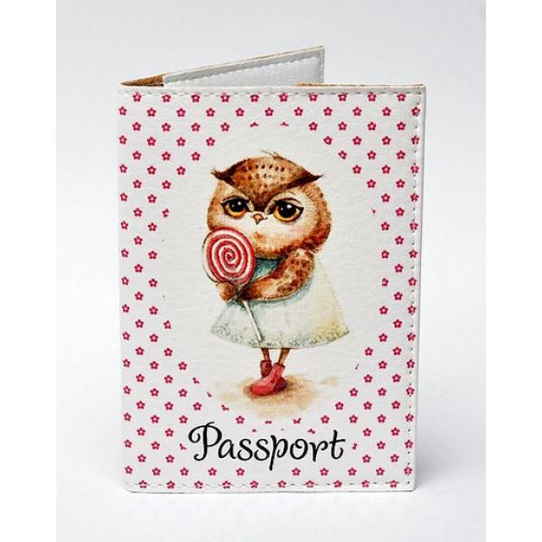 Обложка для паспорта Совушка