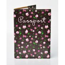 Обложка для паспорта Цветы