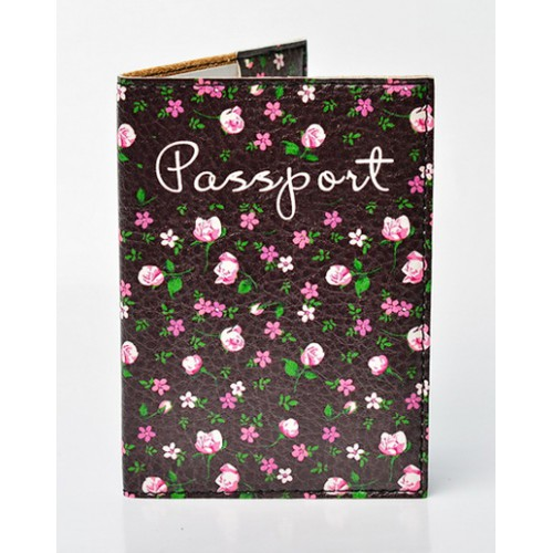 Покупка  Обложка для паспорта Цветы в  Интернет-магазин Zelenaya Vorona™