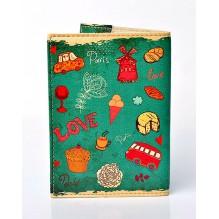 Обложка для паспорта Lovely. Зеленый
