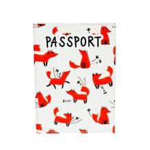 Обложка для паспорта Лисички