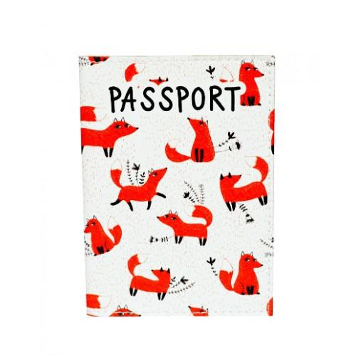 Покупка  Обложка для паспорта Лисички в  Интернет-магазин Zelenaya Vorona™